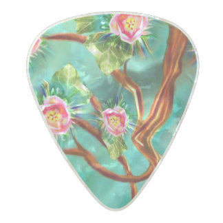 Blooming Spring Fantasy Tree Pearl Celluloid Guitar Pick