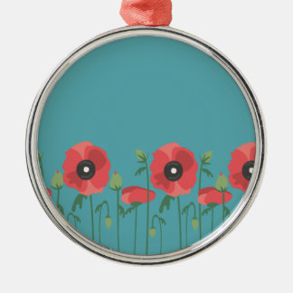 Blooming Springtime Poppies Christmas Ornament