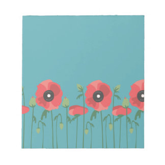 Blooming Springtime Poppies Notepad