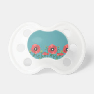 Blooming Springtime Poppies Pacifiers