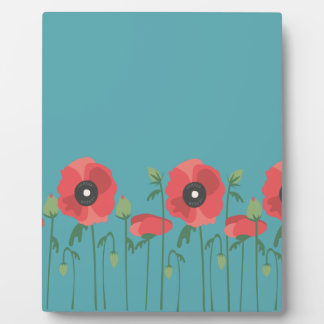 Blooming Springtime Poppies Plaque
