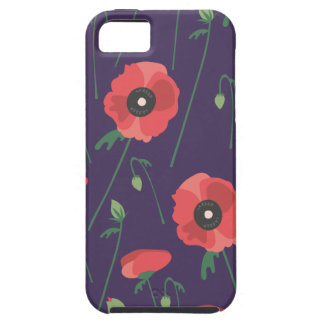 Blooming Springtime Poppies Purple iPhone 5 Cases