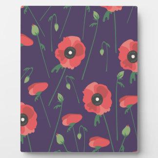 Blooming Springtime Poppy Purple Plaque