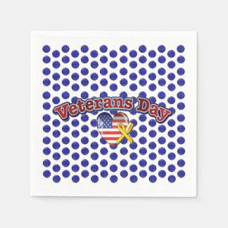 Blooming Stars Veterans Day Party Paper Napkins