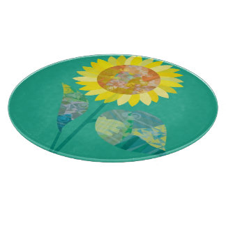 Blooming Sunflowers Cutting Board