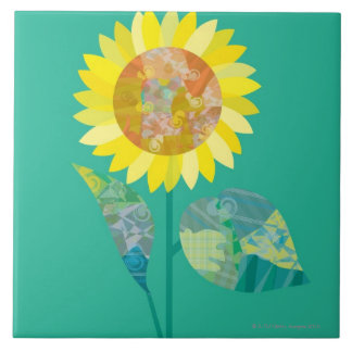 Blooming Sunflowers Tile