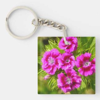 Blooming Sweet William Flowers Key Ring