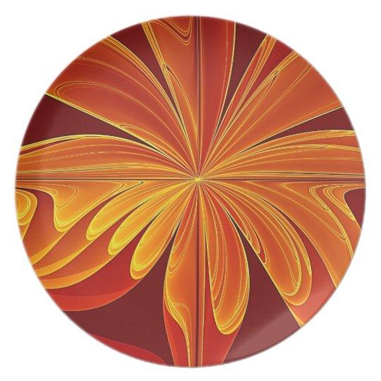 Blooming Swirl Melamine Plate