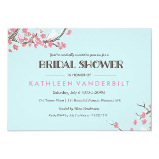 Blooming Tree Branches Bridal Shower Invitation