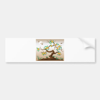 Blooming Tree with Hummingbirds Bumper Sticker