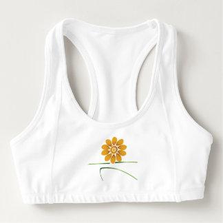 blooming warrior II sports bra