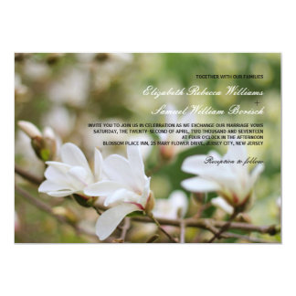 Blooming White Magnolia Wedding Invitation