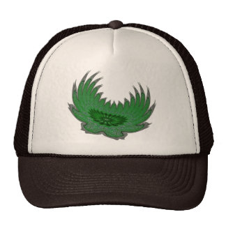 Blooming Wings green Trucker Hats