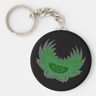 Blooming Wings green Key Chain