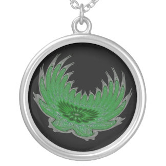 Blooming Wings green Custom Necklace