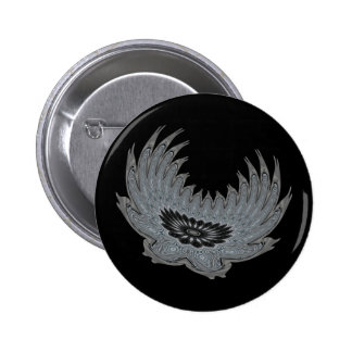 Blooming Wings metal Pinback Buttons