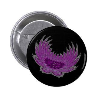 Blooming Wings purple Pin