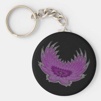 Blooming Wings purple Key Chain