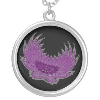 Blooming Wings purple Pendant