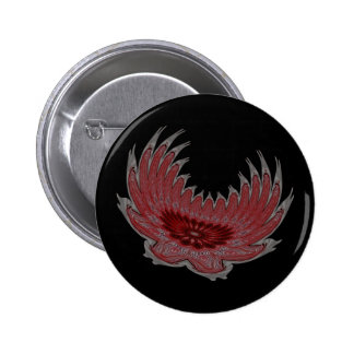 Blooming Wings red Pin