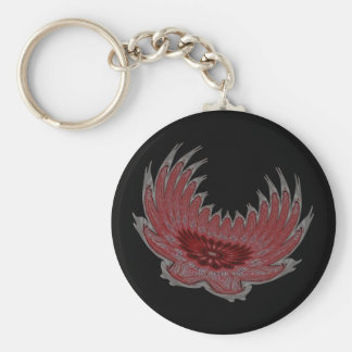 Blooming Wings red Keychains