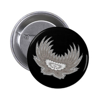 Blooming Wings silver Button