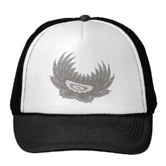 Blooming Wings silver Mesh Hat