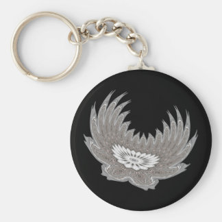 Blooming Wings silver Keychain