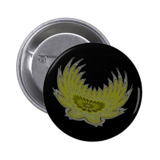 Blooming Wings yellow Pinback Buttons