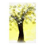Blooming Yellow and White Tree