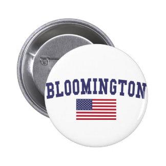 Bloomington IN US Flag 6 Cm Round Badge