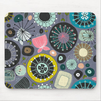 BLOOMS amethyst Mouse Mat