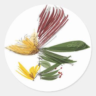 Blooms Classic Round Sticker
