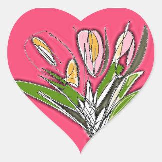 Blooms Heart Sticker