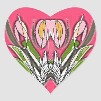 Blooms Heart Sticker