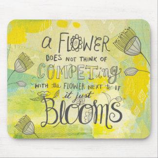 Blooms Mixed Media Inspirational Mousepad
