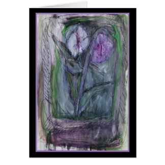 Blooms of Lavender - Original Art Greeting Card