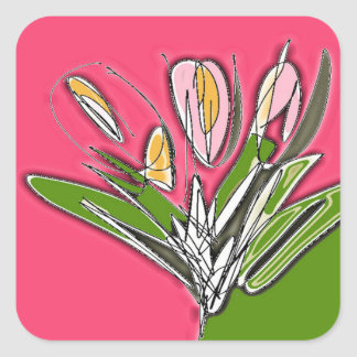 Blooms Square Sticker