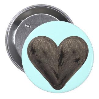 bloomy heart pinback button