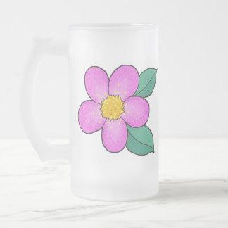 Blossom 08 - Shocking Pink Frosted Glass Mug
