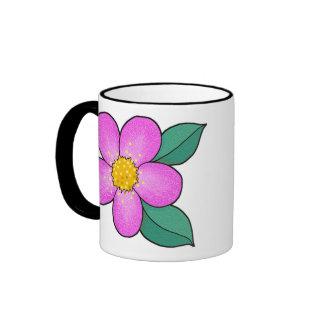 Blossom 08 - Shocking Pink Ringer Mug