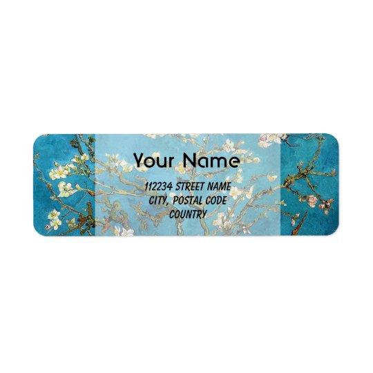 Blossom Almond Tree,  Vincent van Gogh. Return Address Label