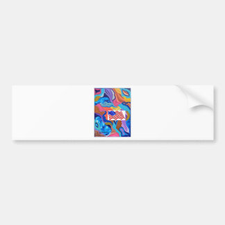 Blossom American Flag Bumper Sticker