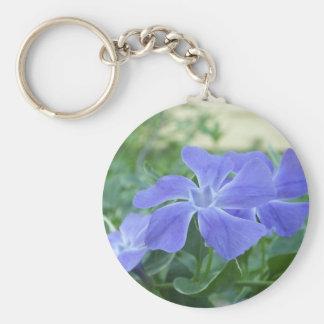 Blossom Basic Round Button Key Ring