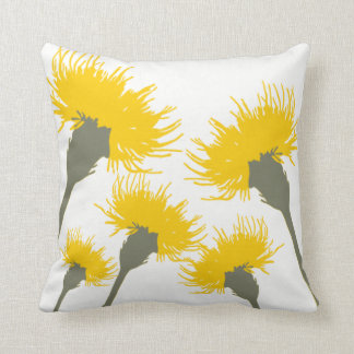 Blossom Dandelion Decor#6d Modern Throw Pillows
