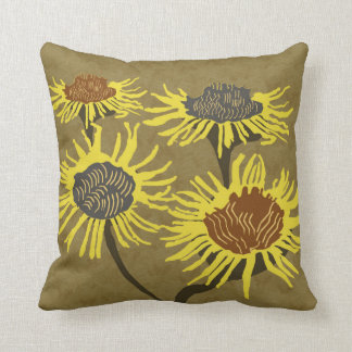 Blossom Decor#2d Modern Throw & Lumbar Pillows