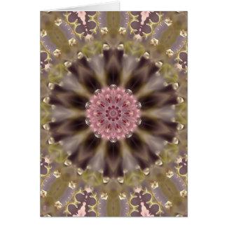 Blossom Glow Mandala II (series of 5) Portrait GC Greeting Card