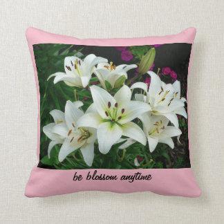 blossom lily cushion