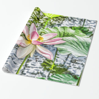 Blossom Lotus Flower 1 Wrapping Paper