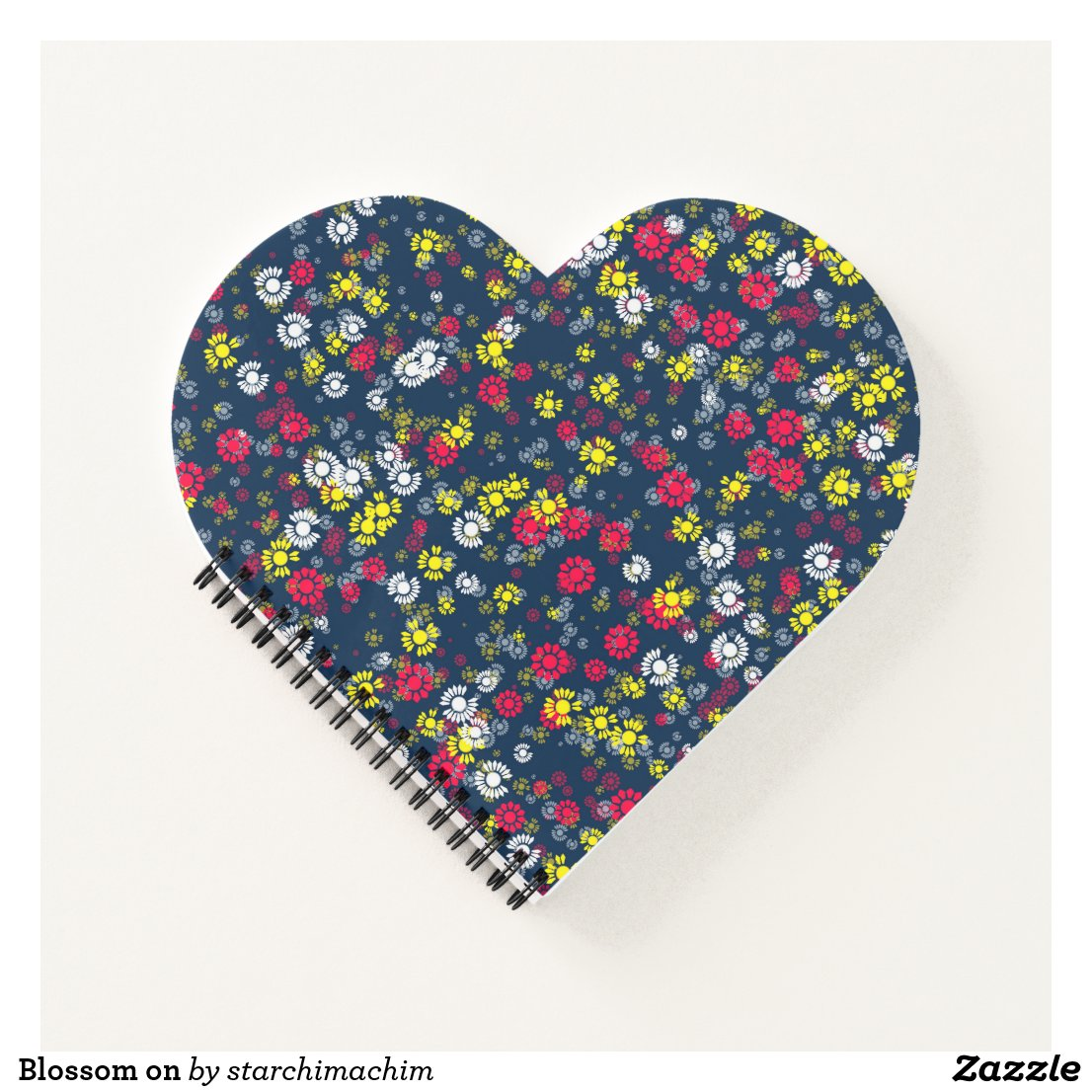 Style Heart Shaped Spiral Bound Notebook